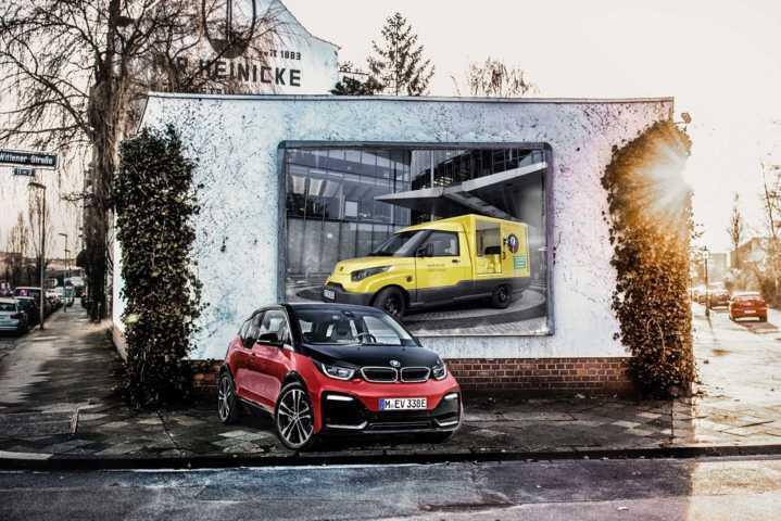BMW i3 Batterie-Module treiben einen Teil der vollelektrischen Lieferfahrzeuge der Streetscooter GmbH für die Deutsche Post an