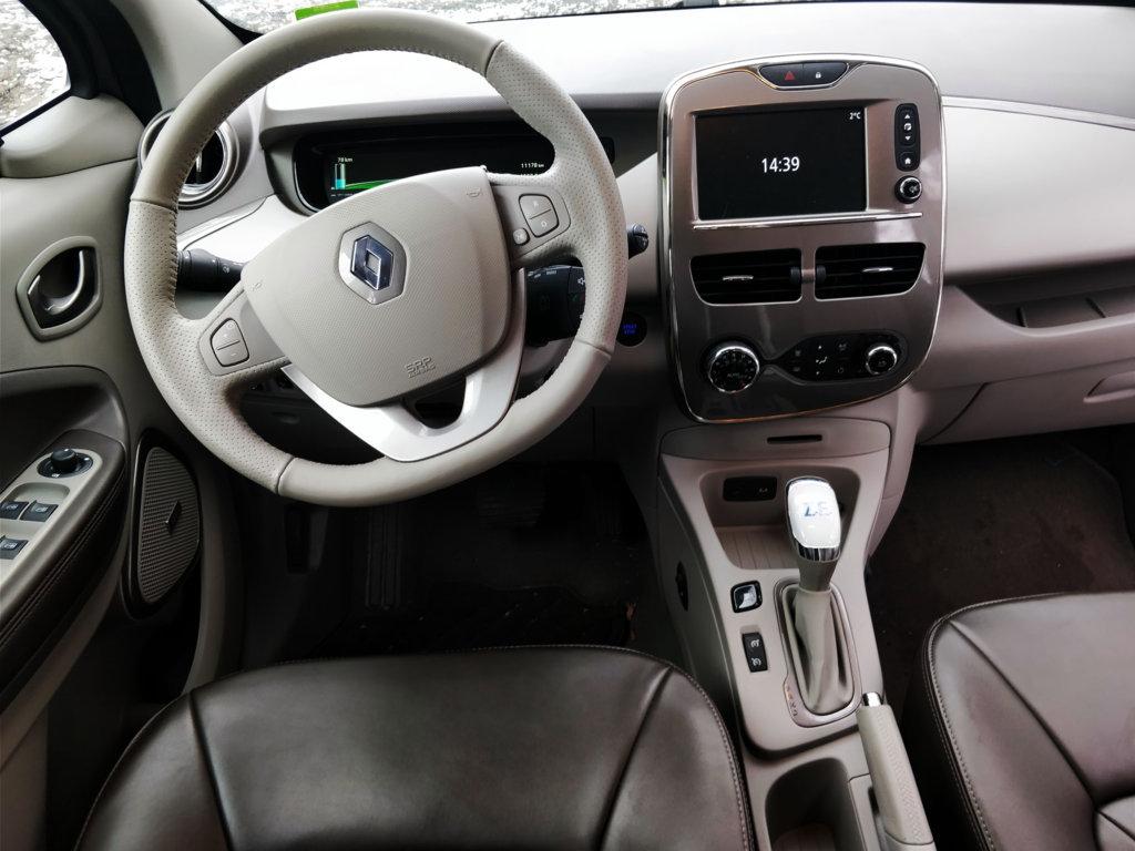 Fahrerblick des Renault Zoe