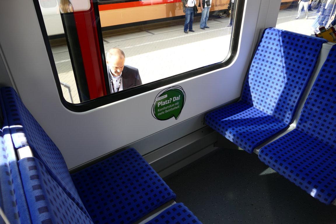 Mehr Beinfreiheit in der neuen S-Bahn Berlin